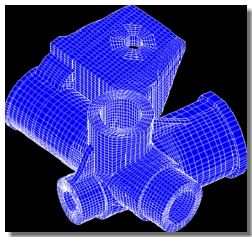 Structured Mesh of Manual Steering Gear Housing - Automotive Application