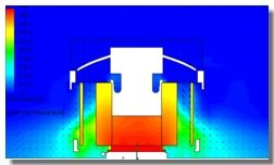 Temperature Profile Plot in CPU cooling using SolidWorks Simulation