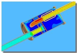 Exhaust System Flui Flow Analysis - Vector Plot using SolidWorks Flow Simulation