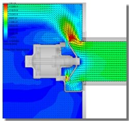 SolidWorks Flow Simulation in a Bleed Off Valve