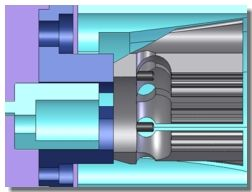 SolidWorks Simulation - Cone Clutch Engagement