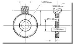 Worm Gear Design using GearTrax inside SolidWorks
